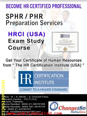 Change180 PHR Certification Preparation Pakistan