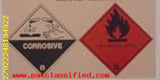 acetic acid hazard labelling.