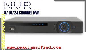 NVR 4 Channel, 8 Channel. 16 Channel, 24 Channel